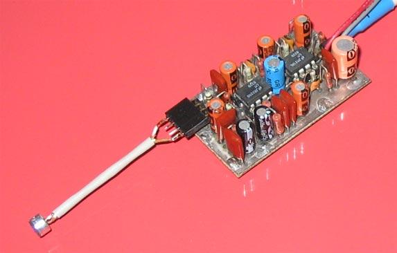 подключение электретного